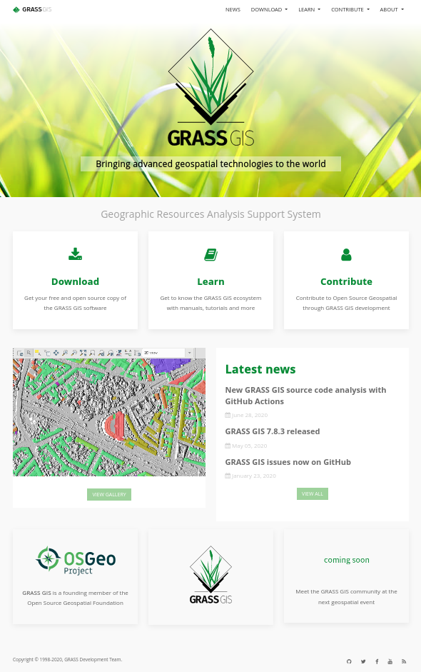The new GRASS GIS website
